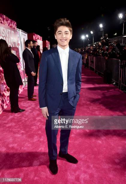 Asher Angel attends the premiere of Warner Bros Pictures' Isn't It Romantic at The Theatre at Ace Hotel on February 11 2019 in Los Angeles California