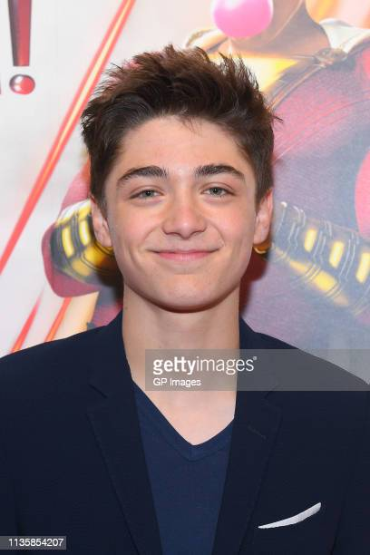Asher Angel attends the unveiling of the Shazam World Exclusive Fan Experience on March 14 2019 in Toronto Canada