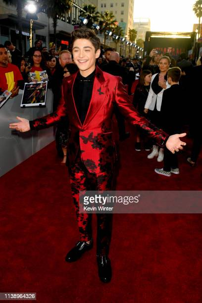Asher Angel attends the Warner Bros Pictures And New Line Cinema's World Premiere Of SHAZAM at TCL Chinese Theatre on March 28 2019 in Hollywood...