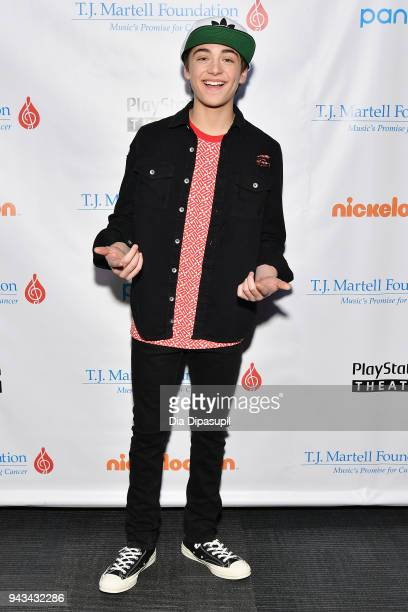 Asher Angel attends TJ Martell Foundation's 17th Annual New York Family Day at PlayStation Theater on April 8 2018 in New York City