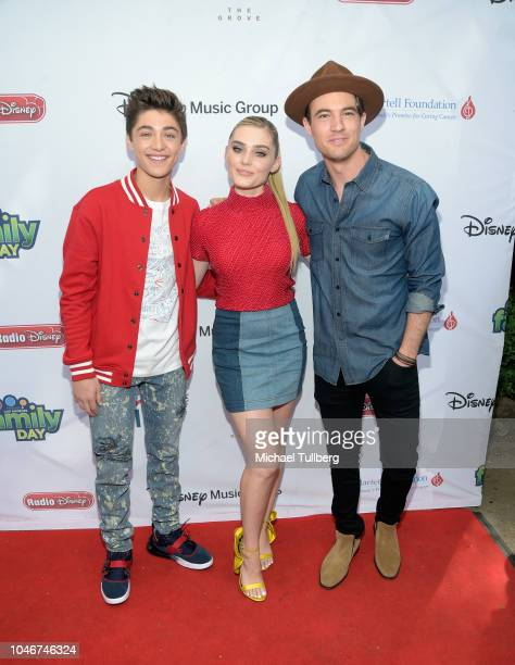 Asher Angel Meg Donnelly and Morgan Tompkins attend the 9th annual LA Family Day hosted by the TJ Martell Foundation at The Grove on October 6 2018...