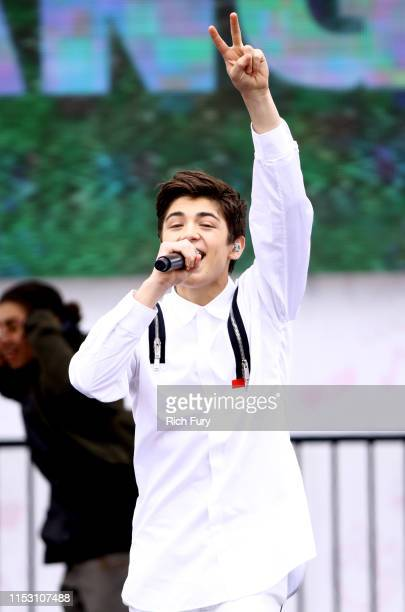Asher Angel performs onstage during the KIIS FM Wango Tango Village at 2019 iHeartRadio Wango Tango at Dignity Health Sports Park on June 01 2019 in...