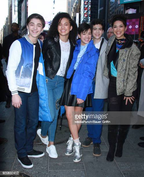 Asher Angel Sofia Wylie Peyton Elizabeth Lee Joshua Rush and Lilan Bowden are seen on February 19 2018 in New York City