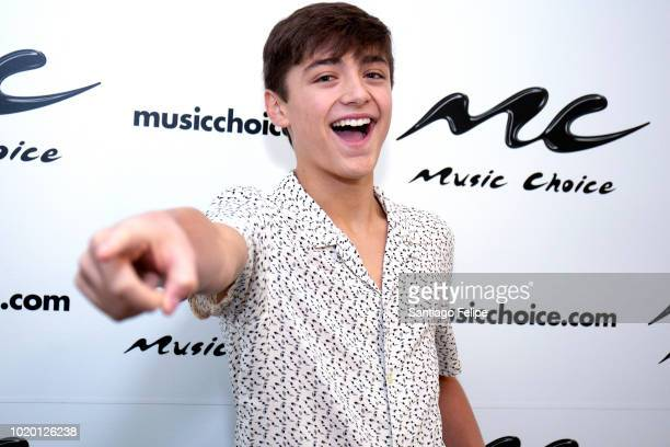 Asher Angel visits Music Choice on August 20 2018 in New York City
