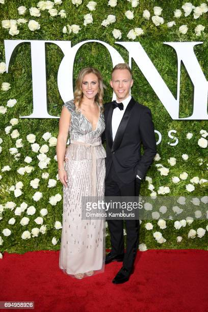 Asher Fogle Paul and Justin Paul attend the 2017 Tony Awards at Radio City Music Hall on June 11 2017 in New York City