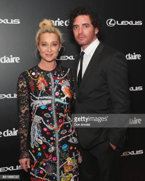 Asher Keddie and Vincent Fantauzzo arrive ahead of the 2017 Prix de Marie Claire Awards on August 15, 2017 in Sydney, Australia.