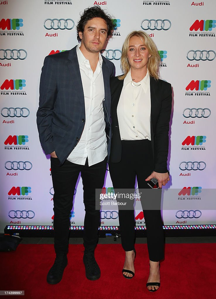 Asher Keddie and Vincent Fantauzzo arrive at the Australian premiere of 'I'm So Excited' on opening night of the Melbourn International Film Festival at Hamer Hall on July 25, 2013 in Melbourne, Australia.