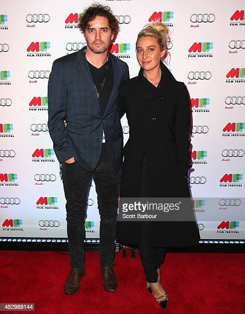 Asher Keddie and Vincent Fantauzzo attend the opening night of the 63rd Melbourne International Film Festival at Hamer Hall on July 31, 2014 in...