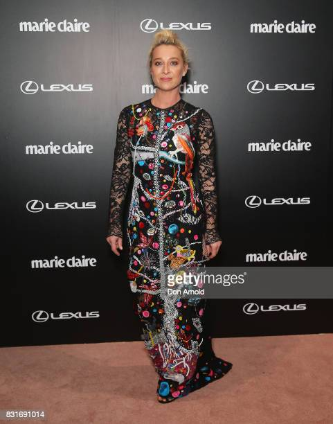 Asher Keddie arrives ahead of the 2017 Prix de Marie Claire Awards on August 15 2017 in Sydney Australia