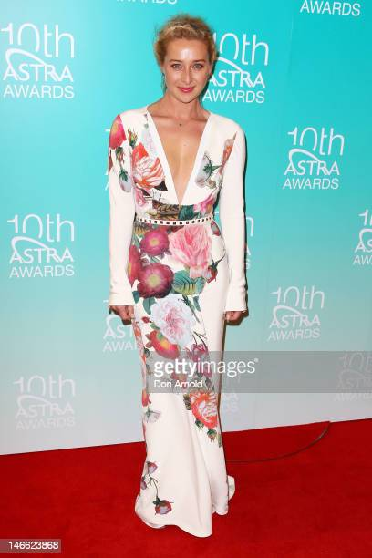 Asher Keddie arrives at the 10th annual Astra Awards at Sydney Theatre on June 21 2012 in Sydney Australia