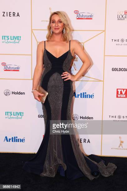 Asher Keddie arrives at the 60th Annual Logie Awards at The Star Gold Coast on July 1 2018 in Gold Coast Australia