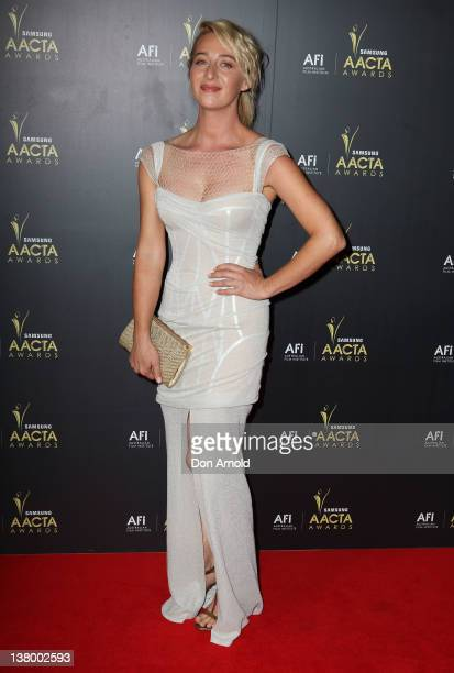Asher Keddie arrives for the 2012 AACTA Awards at Sydney Opera House on January 31 2012 in Sydney Australia