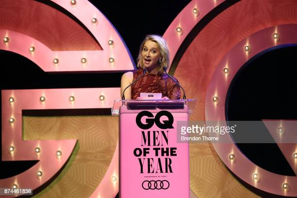 Asher Keddie presents the award for Creative Force during the GQ Men Of The Year Awards Ceremony at The Star on November 15 2017 in Sydney Australia