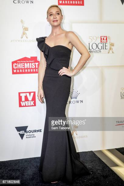 Asher Keddy arrives at the 59th Annual Logie Awards at Crown Palladium on April 23 2017 in Melbourne Australia