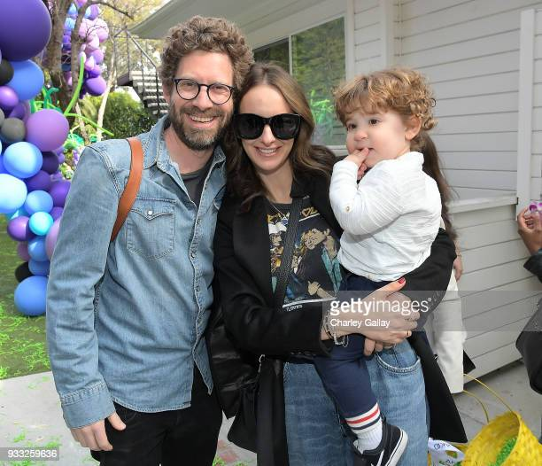 Asher Levin and Molly Levin attend AKID Brand's 3rd Annual 'The Egg Hunt' at Lombardi House on March 17 2018 in Los Angeles California