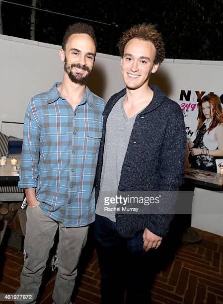 Asher Luzzatto and Evan Luzzatto attend NYLON Celebrates Anna Kendrick's February Cover at Gracias Madre on January 21 2015 in West Hollywood...