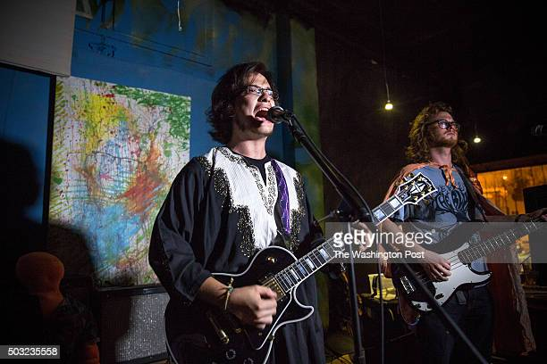 Asher Meerovich and Joe Doyle of the Tomato Dodgers play Bardo in Washington DC September 2015 Asher a musician and senior at The University of...