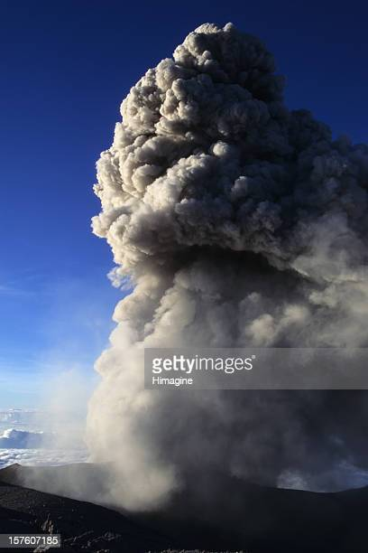 ashes blown by the semeru volcano - mt semeru stock pictures, royalty-free photos & images