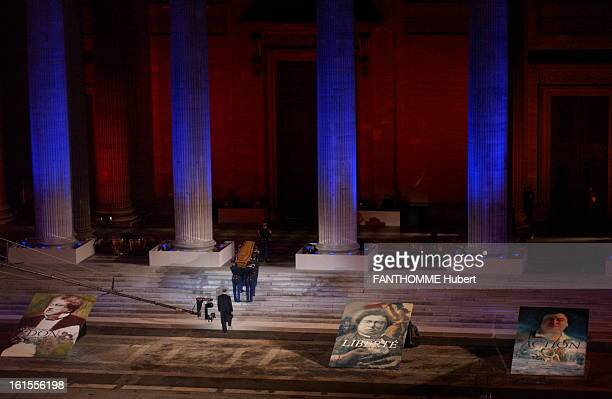 Ashes Transfer Ceremonies Of Writer Alexandre Dumas At The Pantheon Alexandre Dumas between the Pantheon the head of state Jacques Chirac following...