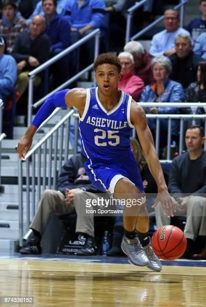 Asheville Bulldogs guard MaCio Teague drives to the basket during a college basketball game between UNC Asheville Bulldogs and Rhode Island Rams on...