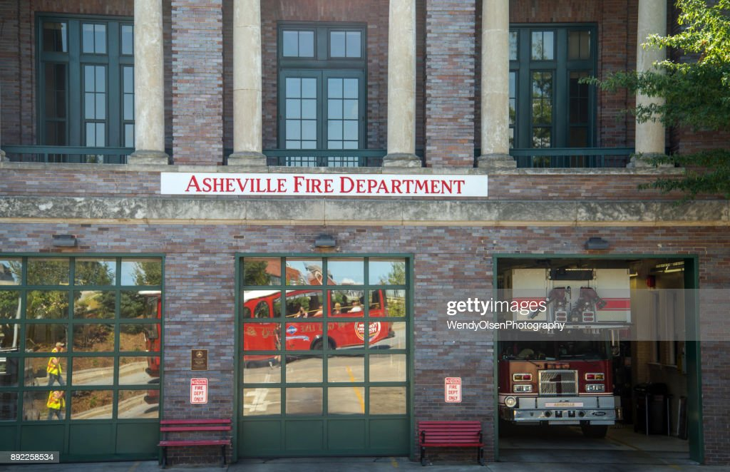 Asheville Fire station : Stock Photo