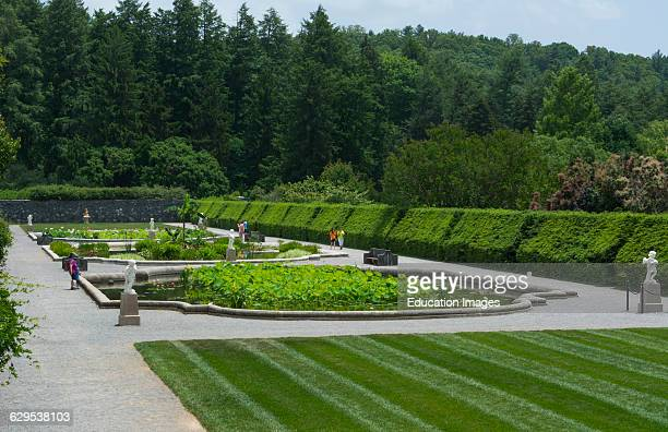 Asheville North Carolina gardens of historic Biltmore Estate home of Vanderbilt in 1895 largest private home in the USA