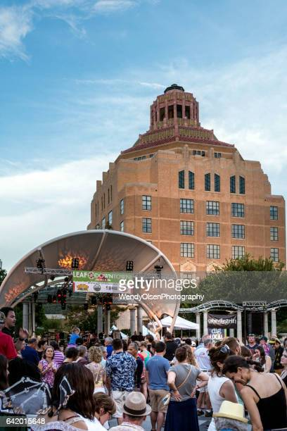 Asheville, North Carolina, USA. July 30, 2016. LEAF Music Festival in downtown Asheville.
