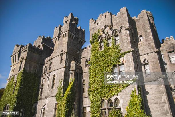 Ashford Castle with Ivy Growing on Wall, Low Angle View, Cong, Ireland