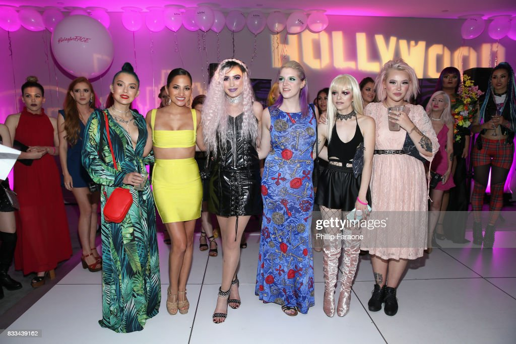 ashghotcakess, Jessica Kalil, Victoria Lyn, Megan Walter, Kimberley Margarita and Jordi Dreher at the FACE Awards International Welcome Party at Andaz Hotel on August 16, 2017 in Los Angeles, California.