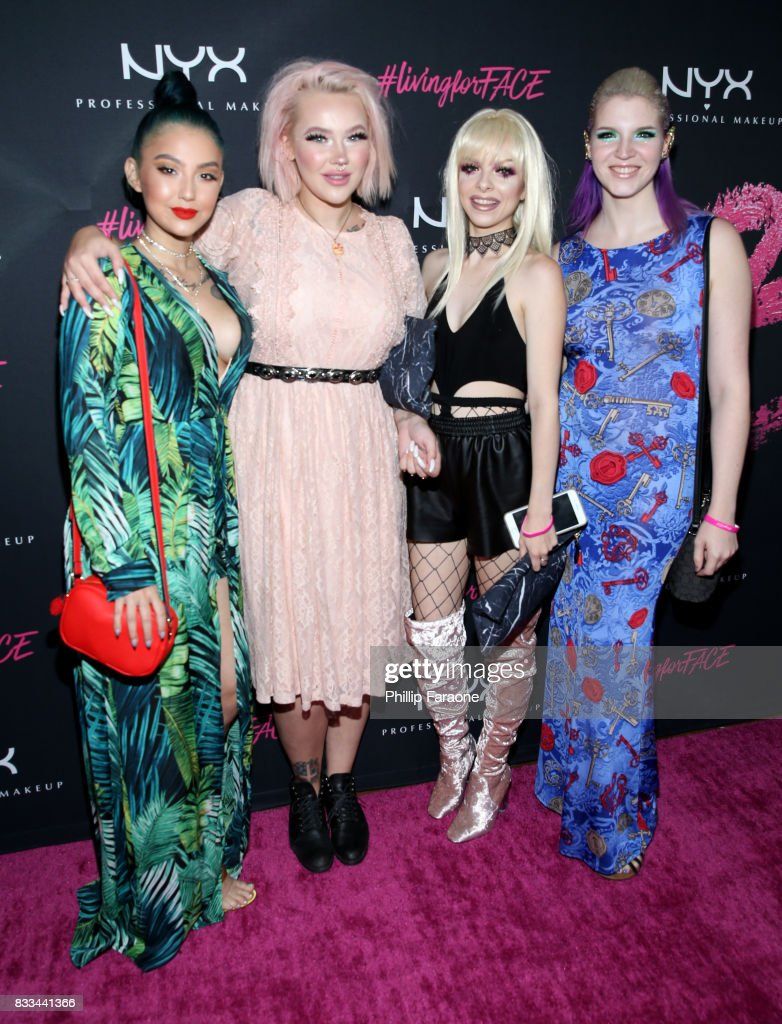 ashghotcakess, Jordi Dreher, Kimberley Margarita and Megan Walter at the FACE Awards International Welcome Party at Andaz Hotel on August 16, 2017 in Los Angeles, California.
