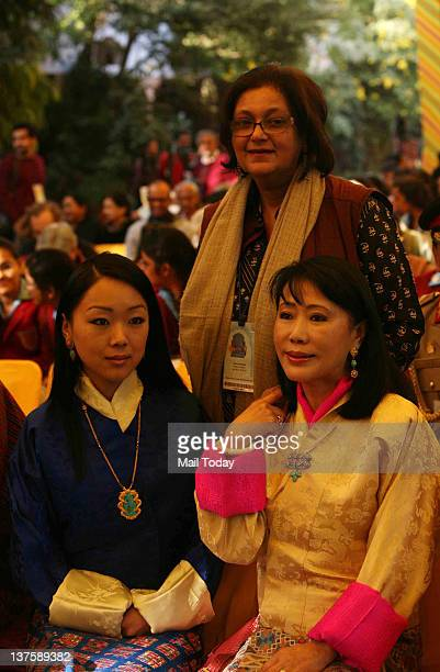 Ashi Dorji Wangmo Wangchuck the Queen Mother of Bhutan with Namita Gokhale at Jaipur Literature Festival 2012 in Jaipur on Friday