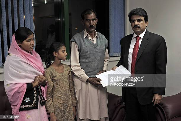 Ashiq Maseeh husband of Asia Bibi a Christian mother sentenced to death along with his daughters Sidra and Esham submit their application to...