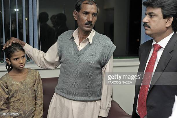 Ashiq Maseeh husband of Asia Bibi a Christian mother sentenced to death talks with Pakistani Minister of Minority Affairs Shahbaz Bhatti in Islamabad...