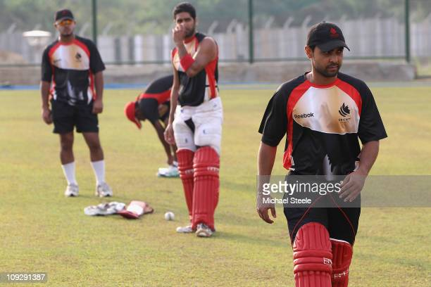 Ashish Bagai the Canada captain during the Canada nets session ahead of the 2011 ICC World Cup at the Mahinda Rajapaksa International Cricket Stadium...