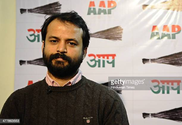 Ashish Khetan Journalist and AAP candidate will contest from New Delhi Constituency on March 11 2014 in New Delhi India
