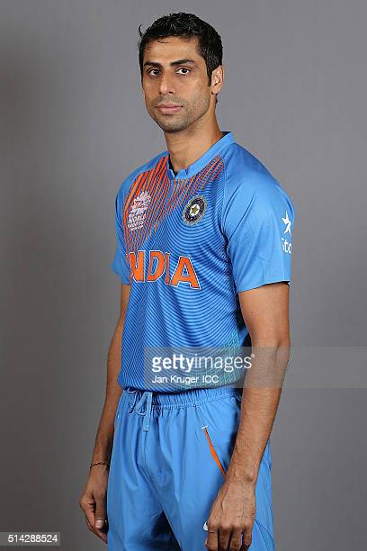 Ashish Nehra poses during the India Headshots session ahead of the ICC Twenty20 World Cup on March 8 2016 in Kolkata India