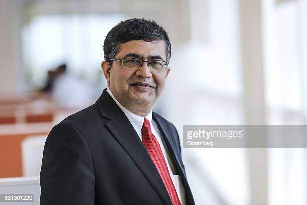 Ashishkumar Chauhan chief executive officer of the Bombay Stock Exchange Ltd stands for photograph at the India International Exchange in Gujarat...