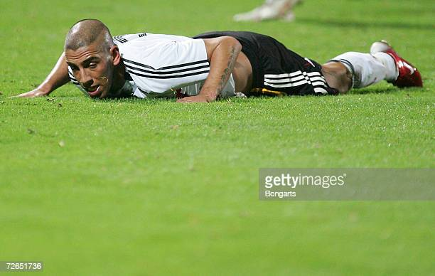 Ashkan Dejagah of Germany after a missed chance during the Men's U20 international friendly match between Germany and Austria at the Guenther-Volker...