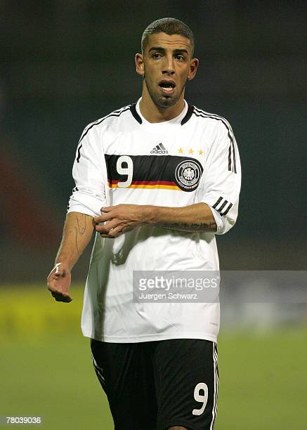 Ashkan Dejagah of Germany leaves the pitch after the U21 qualifier between Luxembourg and Germany at the Josy Barthel Stadium on November 20, 2007 in...