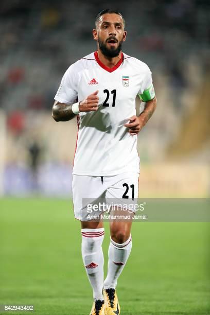 Ashkan Dejagah of Iran looks on during FIFA 2018 World Cup Qualifier match between Iran v Syria on September 5 2017 in Tehran Iran