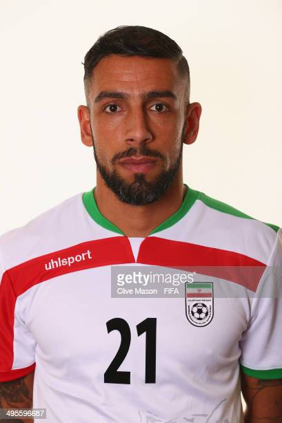 Ashkan Dejagah of Iran poses during the official FIFA World Cup 2014 portrait session on June 4 2014 in Sao Paulo Brazil