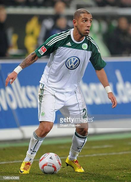 Ashkan Dejagah of Wolfsburg in action during the Bundesliga match between VfL Wolfsburg and Borussia Dortmund at Volkswagen Arena on January 29 2011...