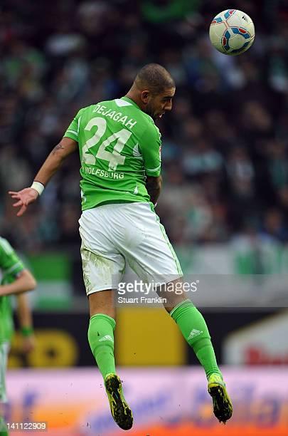 Ashkan Dejagah of Wolfsburg in action during the Bundesliga match between VfL Wolfsburg and Bayer 04 Leverkusen at Volkswagen Arena on March 10 2012...
