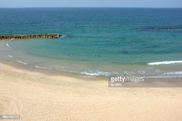 ashkelon, a bay at the mediterranean sea - アシュケロン ストックフォトと画像