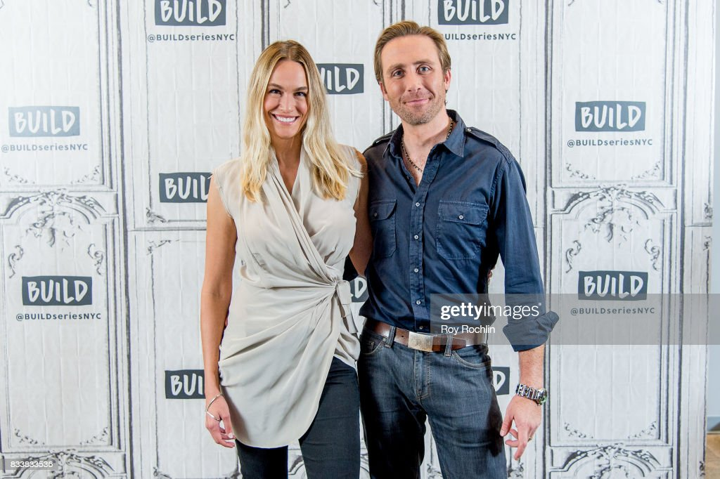 Ashlan Cousteau and Philippe Cousteau discuss 'Caribbean Pirate Treasure' with the Build Series at Build Studio on August 17, 2017 in New York City.