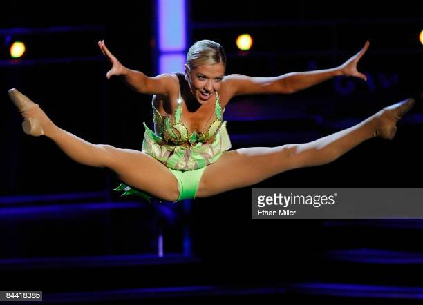 Ashlee Baracy Miss Michigan competes in a preliminary talent competition for the 2009 Miss America Pageant at the Planet Hollywood Resort Casino...