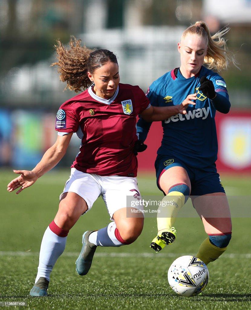GBR: Aston Villa Ladies v West Ham United Women: SSE Women's FA Cup Quarter Final