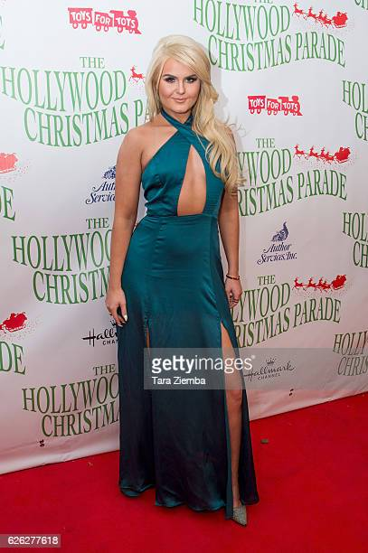 Ashlee Keating arrives at the 85th Annual Hollywood Christmas Parade on November 27 2016 in Hollywood California
