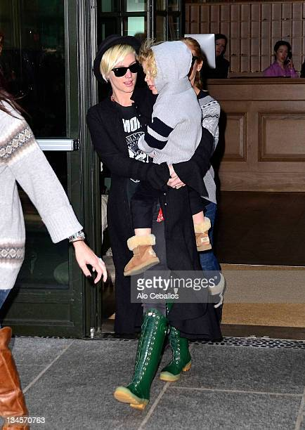 Ashlee Simpson and Bronx Wentz are seen on December 2 2011 in New York City