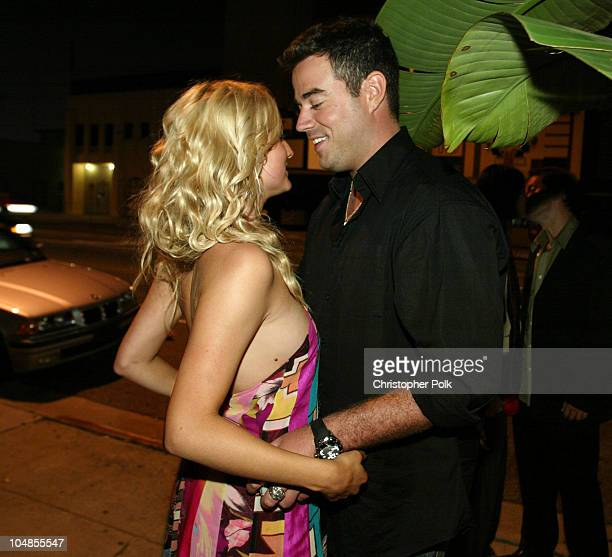 Ashlee Simpson and Carson Daly during MTV Bash Carson Daly After Party at Oasis at Oasis in Hollywood CA United States